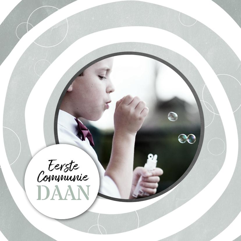 Communiekaarten - Hippe, stoere communiekaart voor een jongen