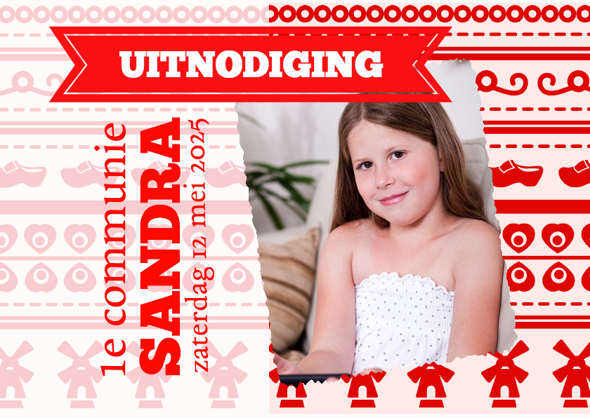 Communiekaarten - Hollandse uitstraling  rood-isf