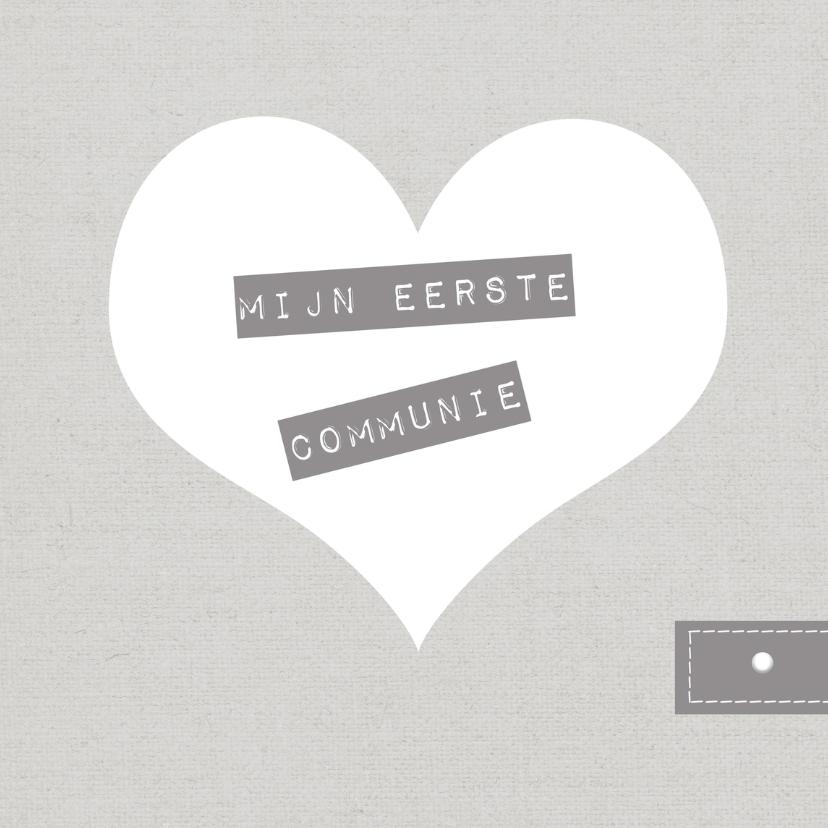 Communiekaarten - Kaart communie hart