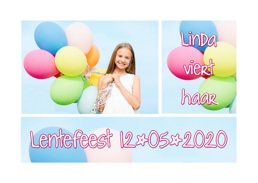 Communiekaarten - Lentefeest fotocollage OT