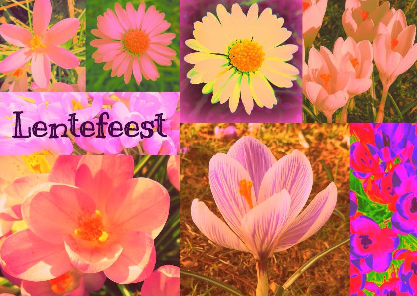 Communiekaarten - Lentefeest met bloemen