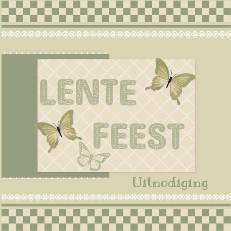 Communiekaarten - Lentefeest vlinders