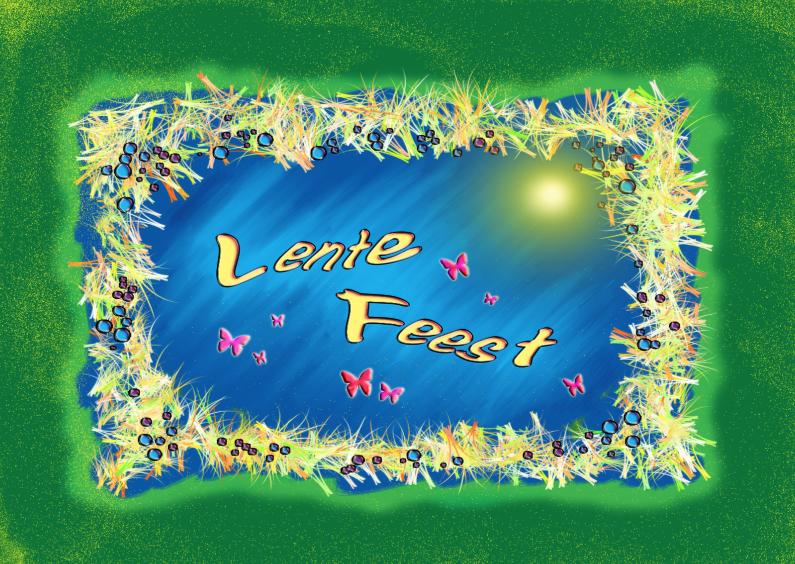 Communiekaarten - Lentefeest1