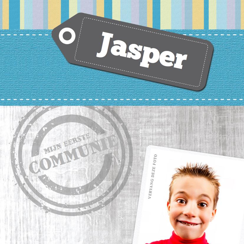 Communiekaarten - Mijn eerste Communie Blauw-geel