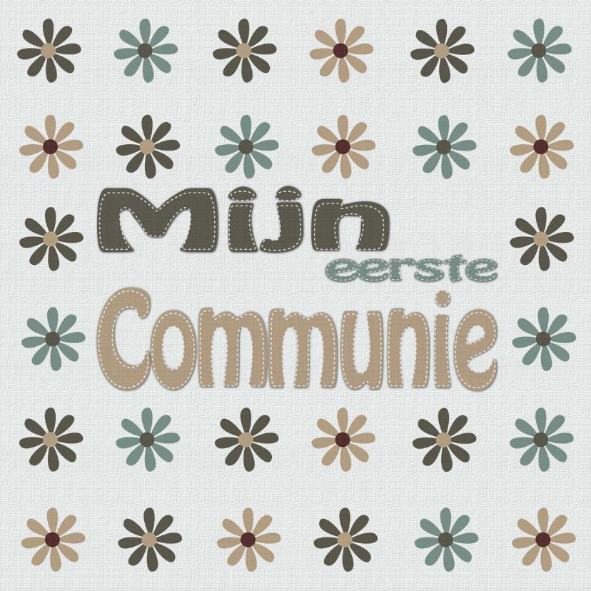 Communiekaarten - Mijn eerste communie met bloemen
