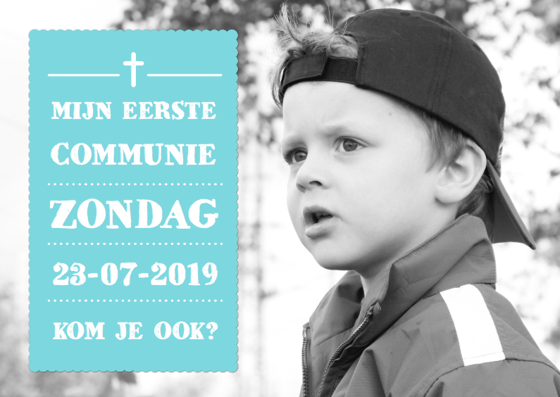 Communiekaarten - Uitnodiging Communie Foto