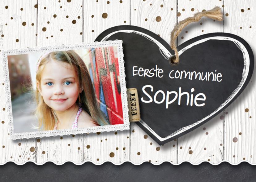 Communiekaarten - Uitnodiging communie meisje- LO