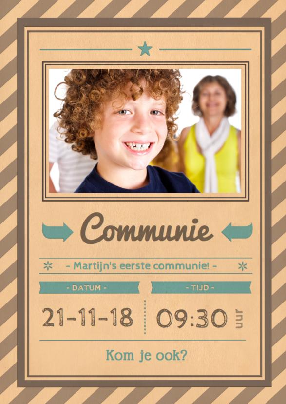 Communiekaarten - Vintage poster communie 1LS3
