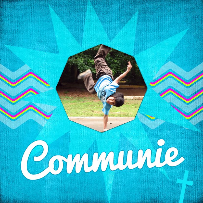 Communiekaarten - ZigZag jeans blue Communie - BK