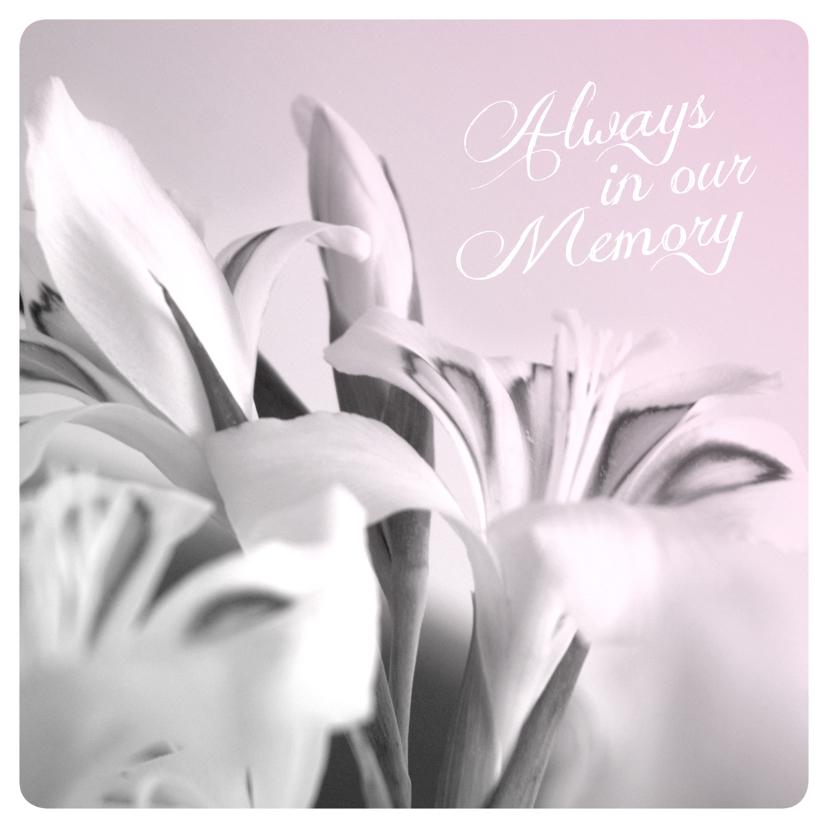 Condoleancekaarten - Always memory engels condoleance kaart