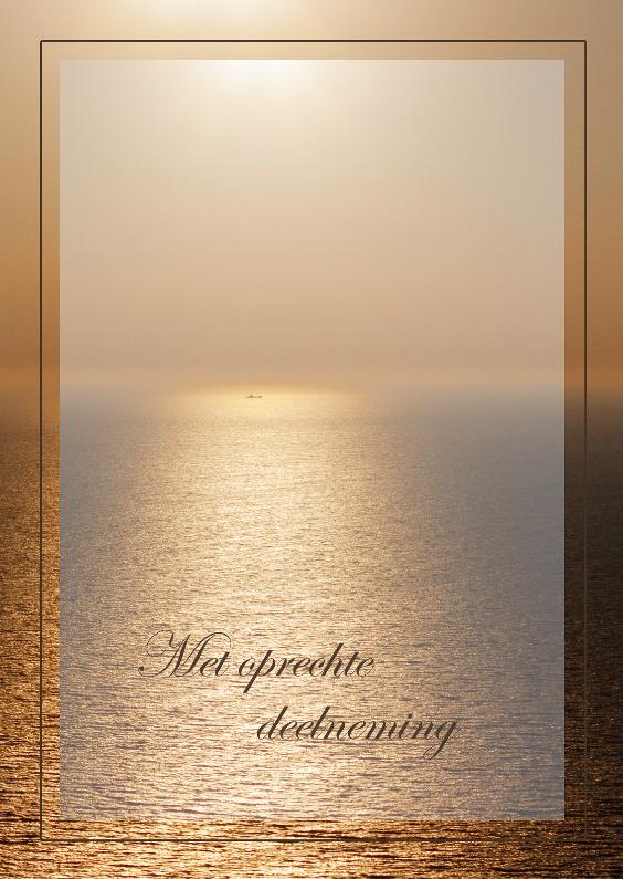 Condoleancekaarten - Avondzon boven zee