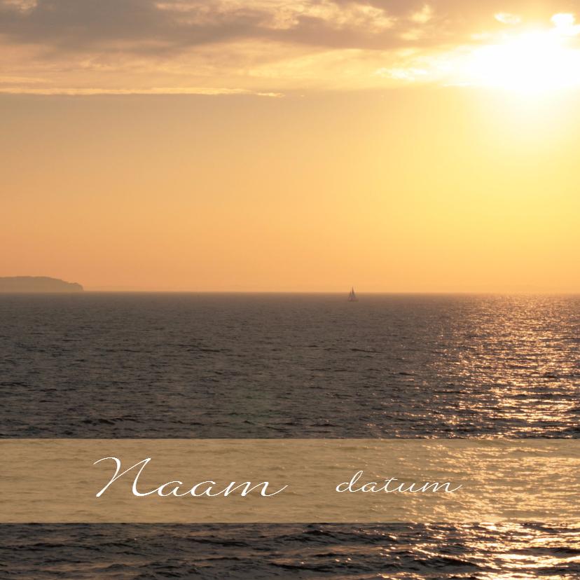 Condoleancekaarten - Bootje bij zonsondergang op reis