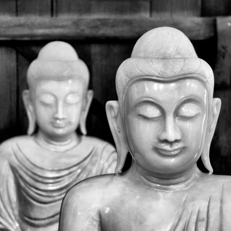 Condoleancekaarten - Buddha Zwart Wit - OT