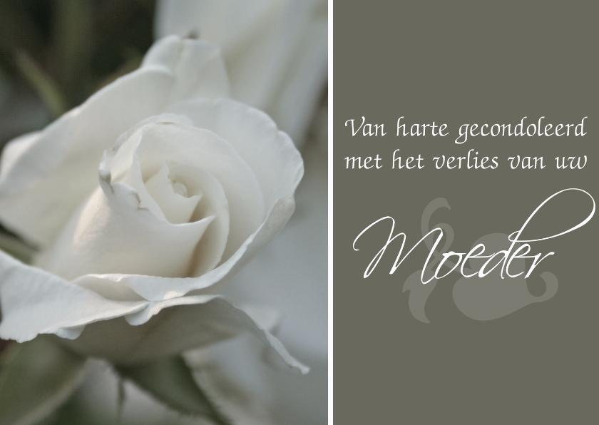 Condoleancekaarten - Concoleancekaart overlijden moeder