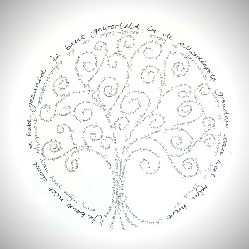 Condoleancekaarten - Condoleance Boom cirkel - AW