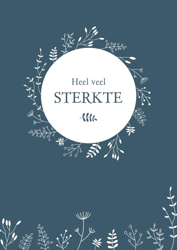 Condoleancekaarten - Condoleance - Cirkel met botanische illustraties