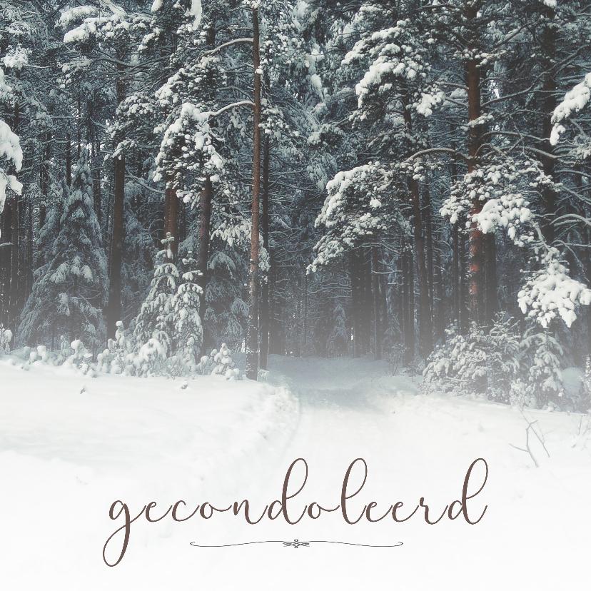 Condoleancekaarten - Condoleance - gecondoleerd winter
