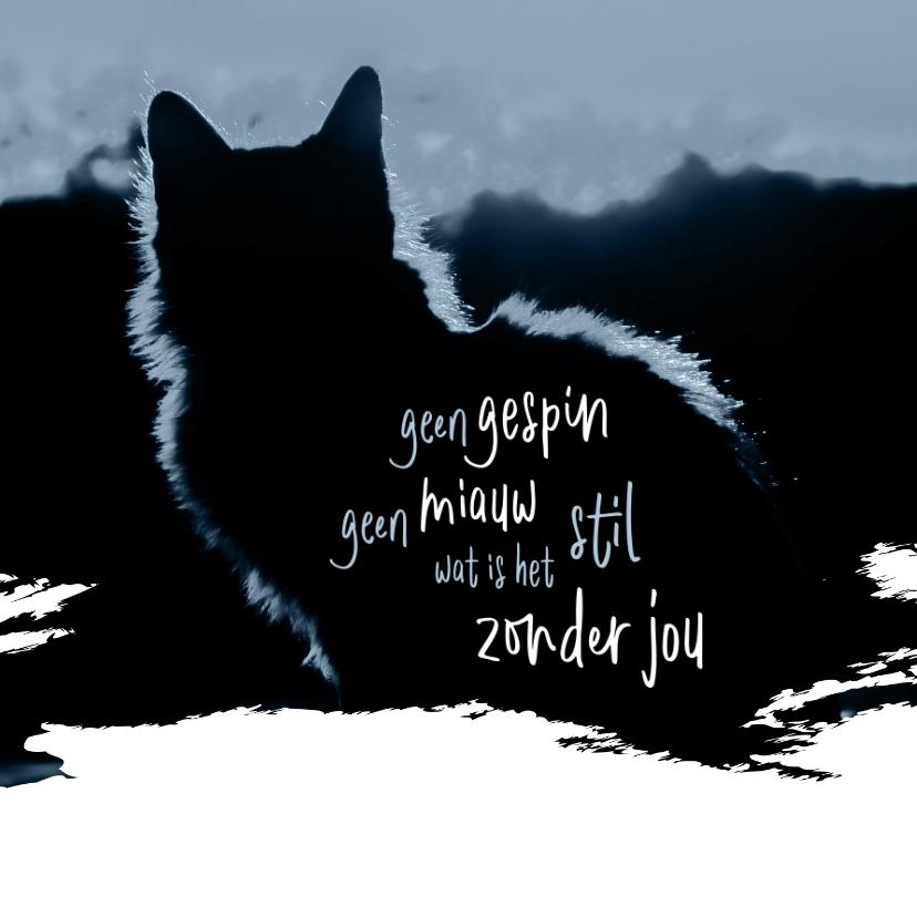 Condoleancekaarten - Condoleance Geen gespin geen miauw
