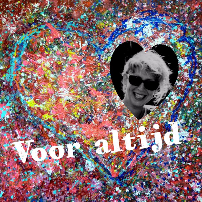 Condoleancekaarten - Condoleance hart met foto - AW