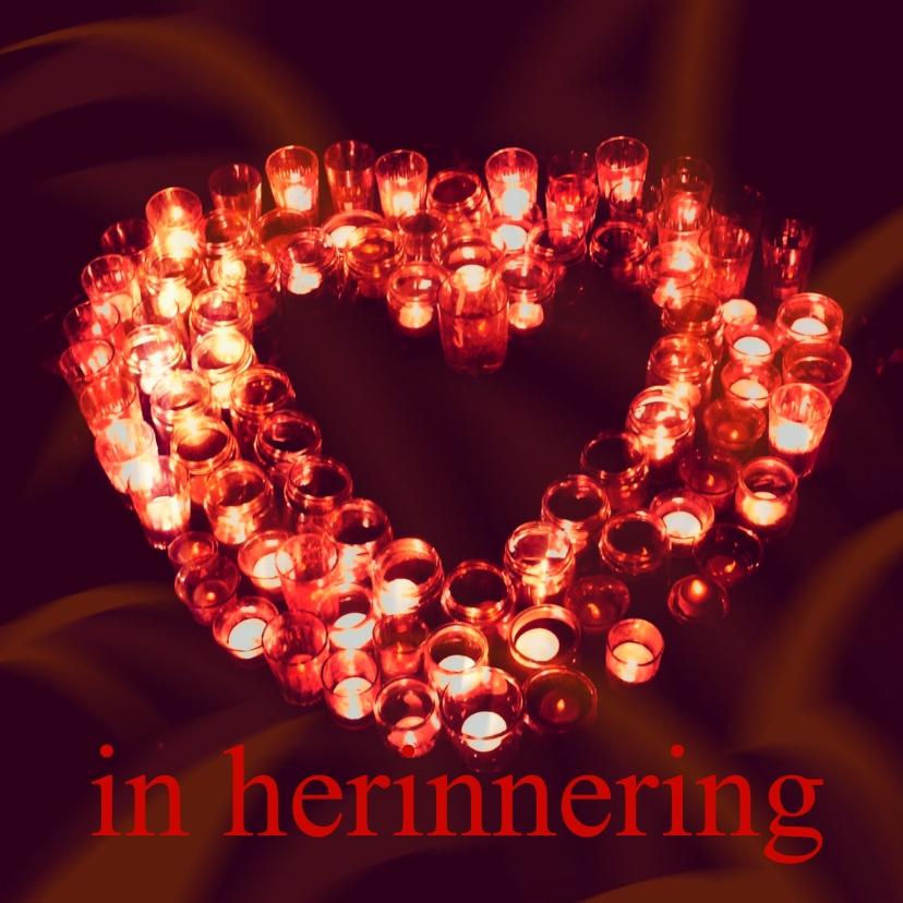 Condoleancekaarten - Condoleance Hart rood - AW