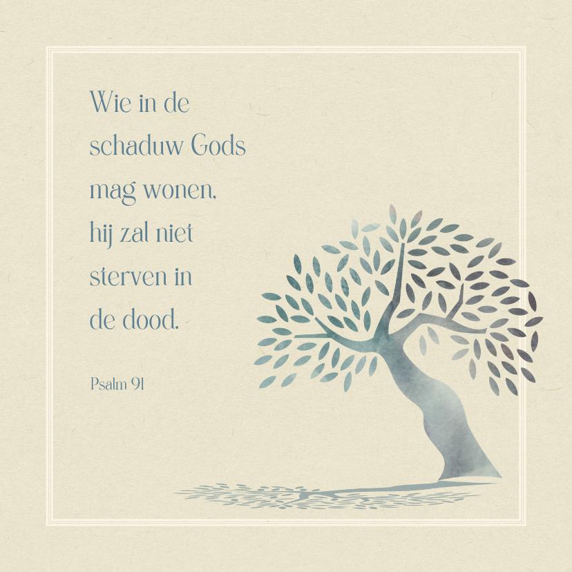 Condoleancekaarten - Condoleance In de schaduw Gods