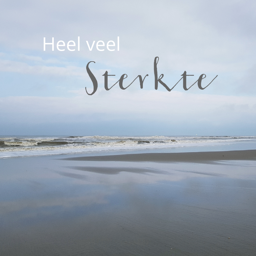 Condoleancekaarten - Condoleance kaart - zee en strand