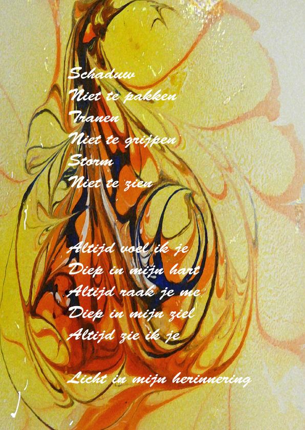 Condoleancekaarten - Condoleance Licht in herinn - AW