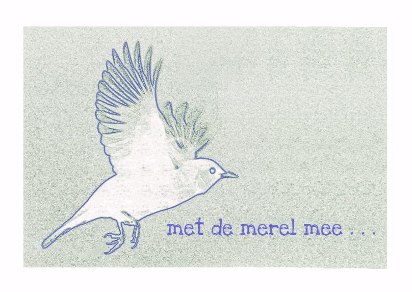 Condoleancekaarten - Condoleance  Met de merel - AW