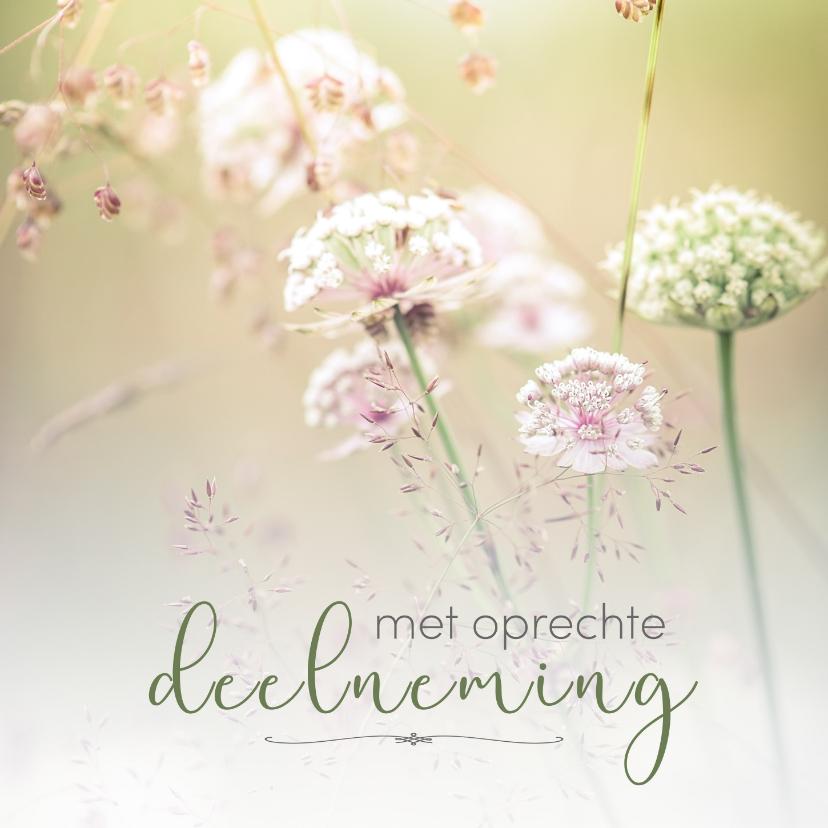 condoleance- met oprechte deelneming bloemen 2 | kaartje2go