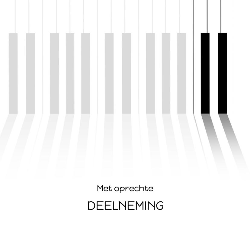 Condoleancekaarten - Condoleance met pianotoetsen