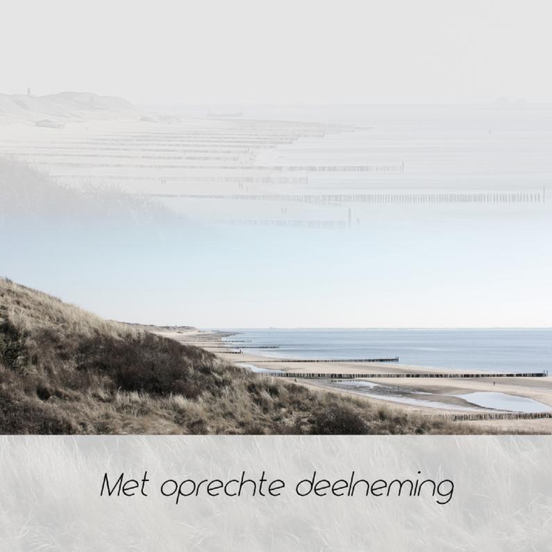Condoleancekaarten - Condoleance met zee en strand