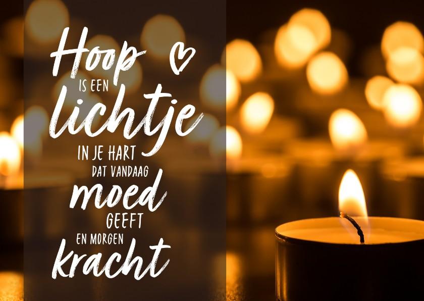 Condoleancekaarten - Condoleance - moed is een lichtje