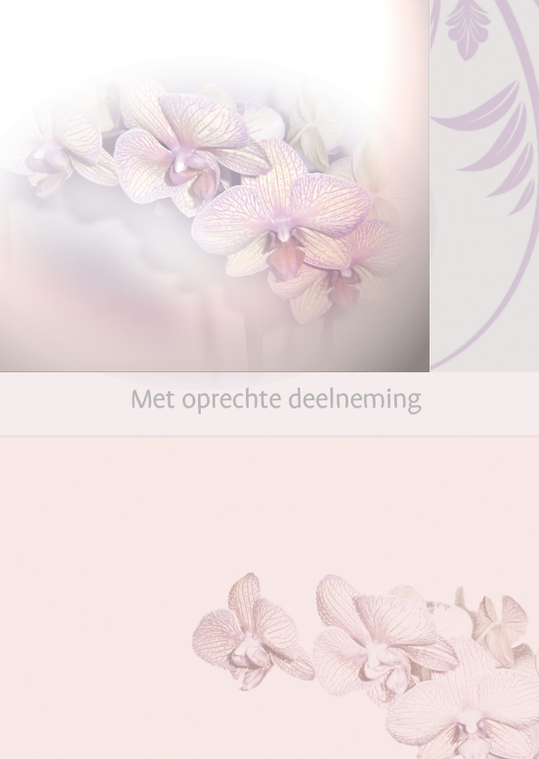 Condoleancekaarten - Condoleance orchidee foto