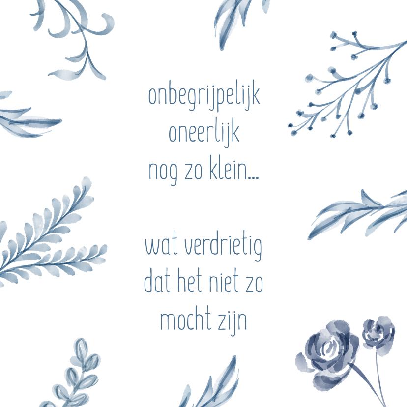 Condoleancekaarten - Condoleance - overlijden (vlinder)kindje