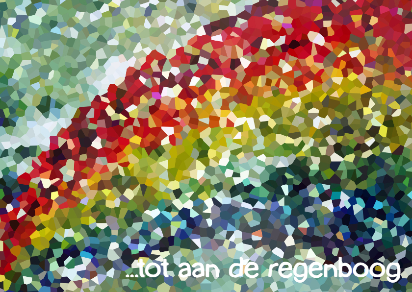 Condoleancekaarten - Condoleance  Regenboog - AW