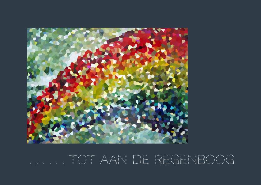 Condoleancekaarten - Condoleance  Regenboog kader -AW