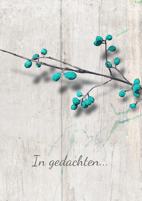 Condoleancekaarten - Condoleance sterkte kaart blue berries