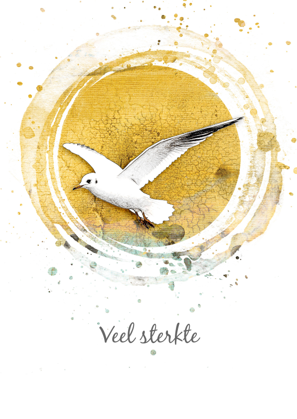 Condoleancekaarten - Condoleance sterkte kaart vogel zon