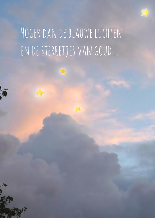 Condoleancekaarten - Condoleance Sterretjes van Goud