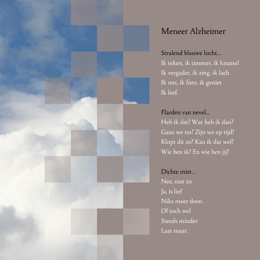 Condoleancekaarten - Condoleance vader met alzheimer