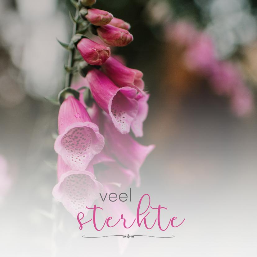 Condoleancekaarten - Condoleance - veel sterkte bloemen