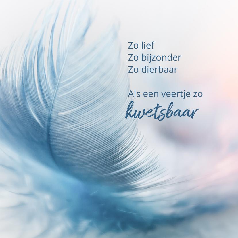 Condoleancekaarten - Condoleance veertje