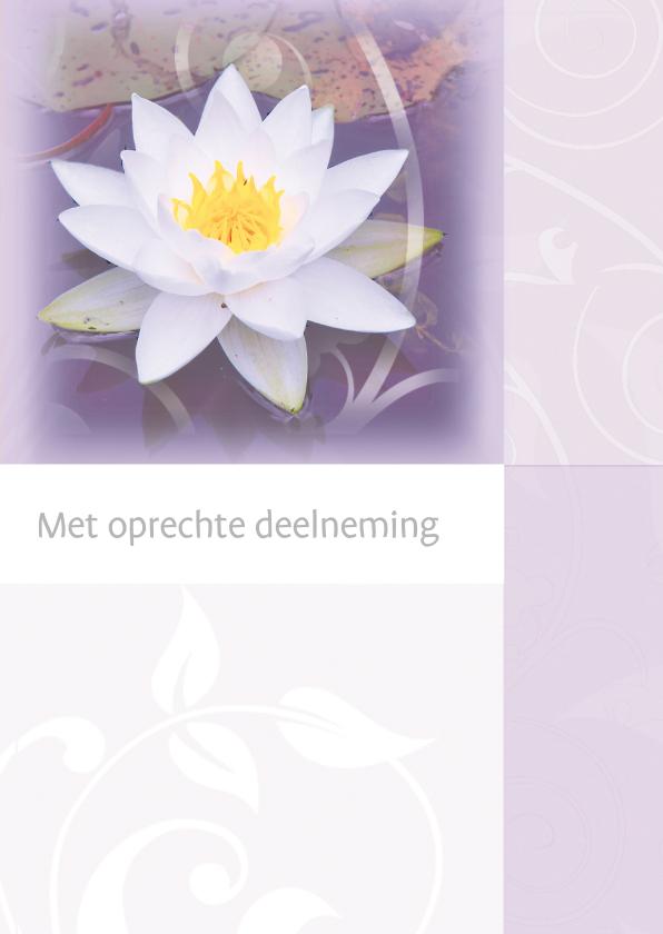 Condoleancekaarten - Condoleance waterlelie