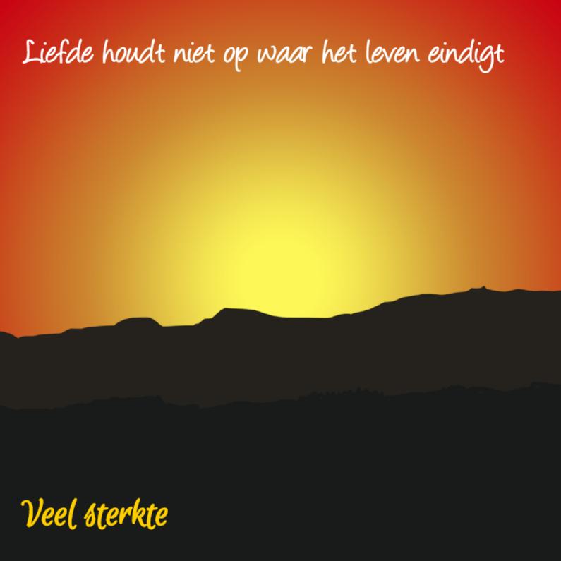 Condoleancekaarten - Condoleance Zonsondergang -AZ