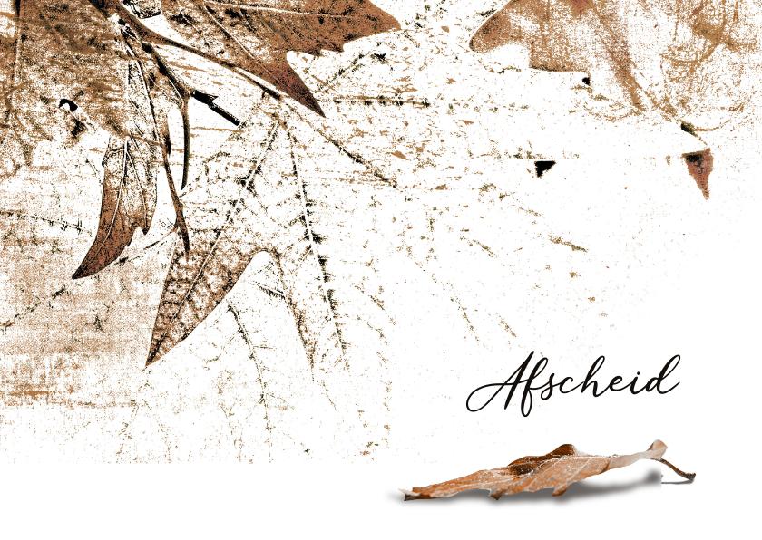 Condoleancekaarten - Condoleancekaart autumn leaves