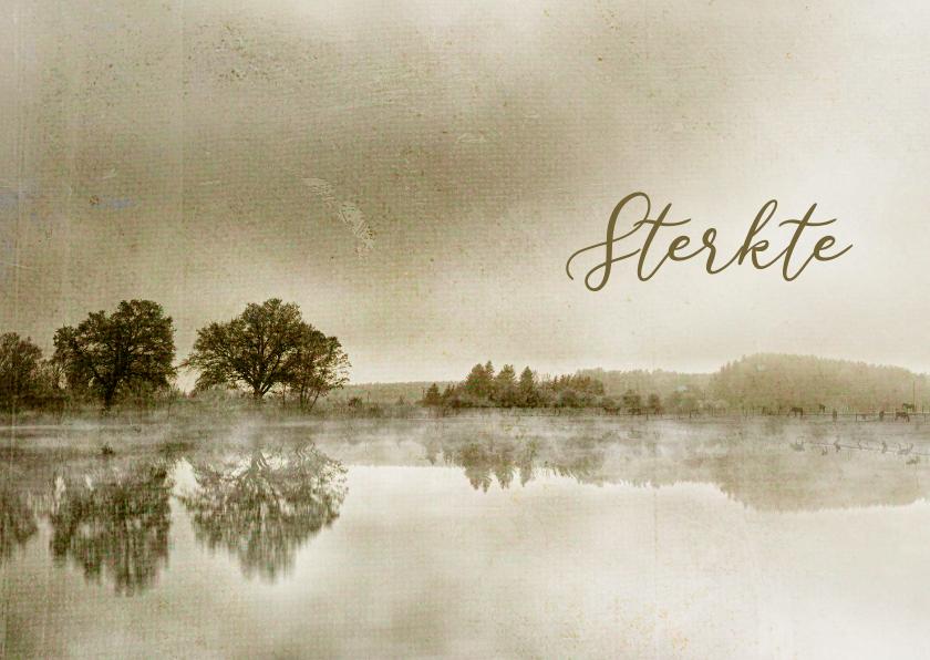 Condoleancekaarten - Condoleancekaart bomen aan meer