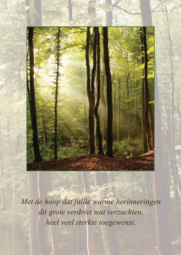 Condoleancekaarten - Condoleancekaart Bos