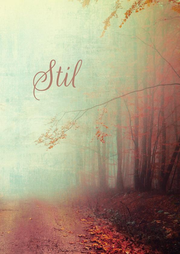 Condoleancekaarten - Condoleancekaart bospad in mist
