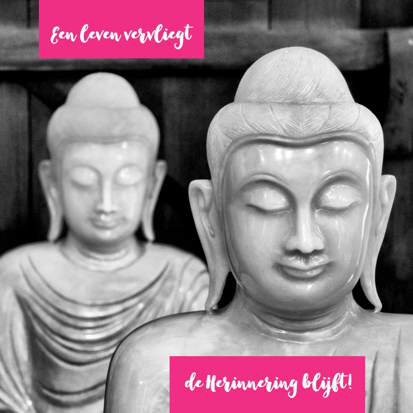 Condoleancekaarten - Condoleancekaart Buddha zwart wit 2 - OT