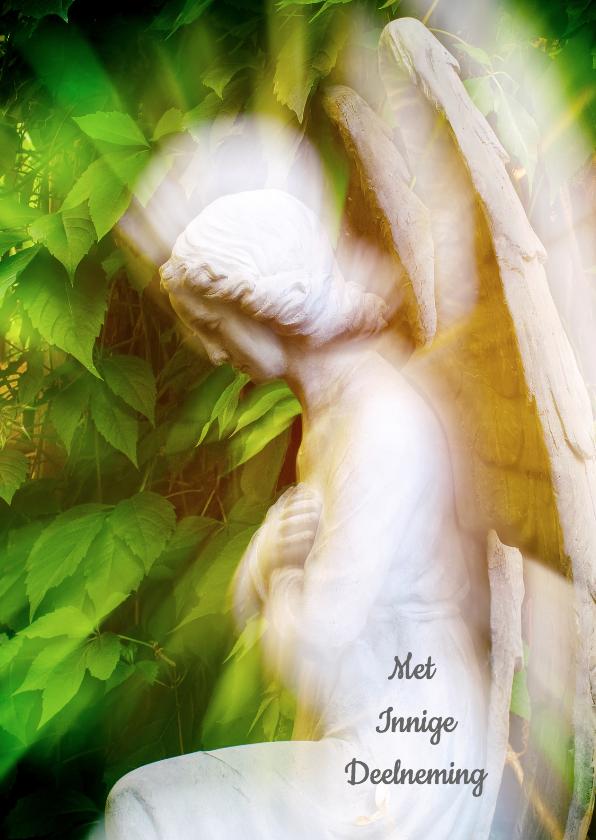 Condoleancekaarten - Condoleancekaart engel - innige deelneming